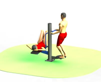 Apart fitness de exterior combinat ESFMS55.1