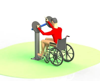 Apart fitness de exterior pentru persoane cu dizabilitati ESFMS68