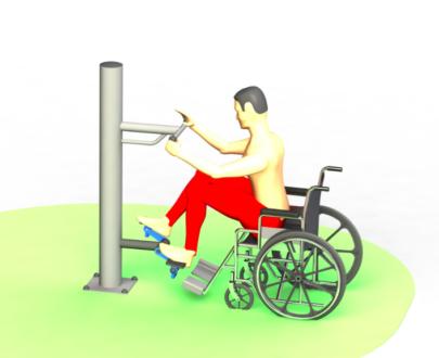Apart fitness de exterior pentru persoane cu dizabilitati ESFMS72