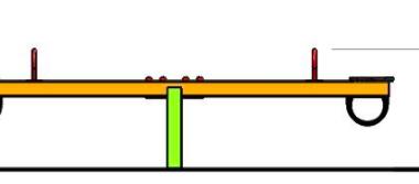 Balansoar doua locuri cu barna din metal 1.1