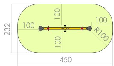 Balansoar doua locuri cu barna din metal 1.2