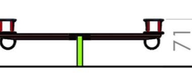 Balansoar doua locuri cu protectie 1.1