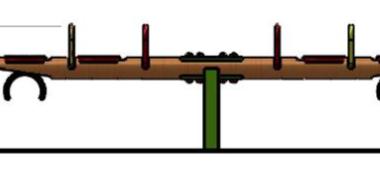 Balansoar patru locuri din lem 1.2