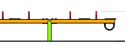 Balansoar patru locuri din metal 1.1