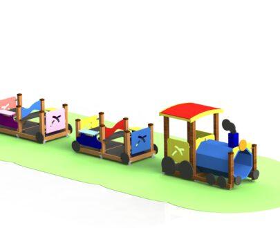 Echipament de joaca Locomotiva cu vagoane 1.0