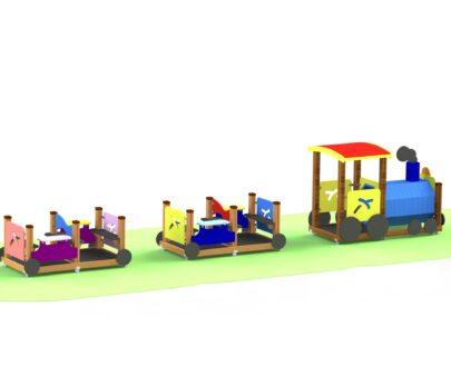 Echipament de joaca Locomotiva cu vagoane 1.1