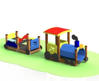 Echipament de joaca Trenulet cu locomotiva 1.0