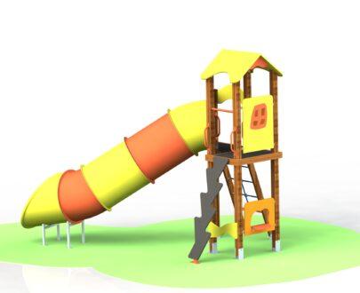 Echipament de joaca cu tobogan tubular 1.1
