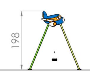Leagan doua locuri Avion 1.1 1