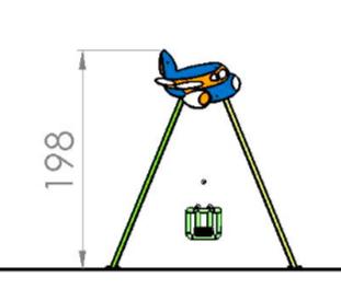 Leagan doua locuri Avion 1.1 2