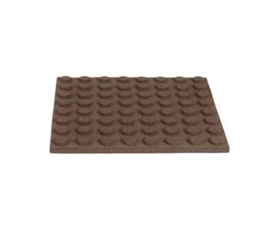 Dale de cauciuc 50x50 cm maro 1.1