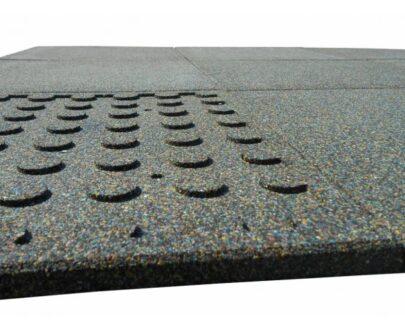 Dale de cauciuc 50x50 cm negru 1.1